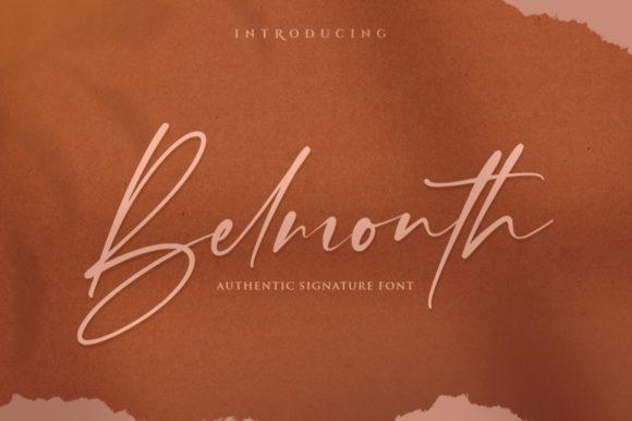 Belmonth手写连笔好看的英文字体下载