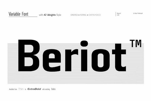 Beriot无衬线英文logo字体设计下载