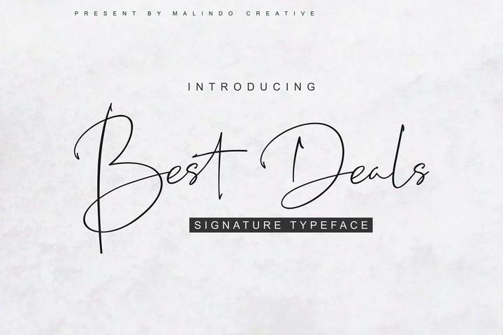 BestDeals手写钢笔纤细签名艺术英文字体下载