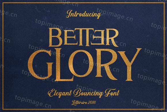 Better Glory衬线复古意大利斜体英文字体下载