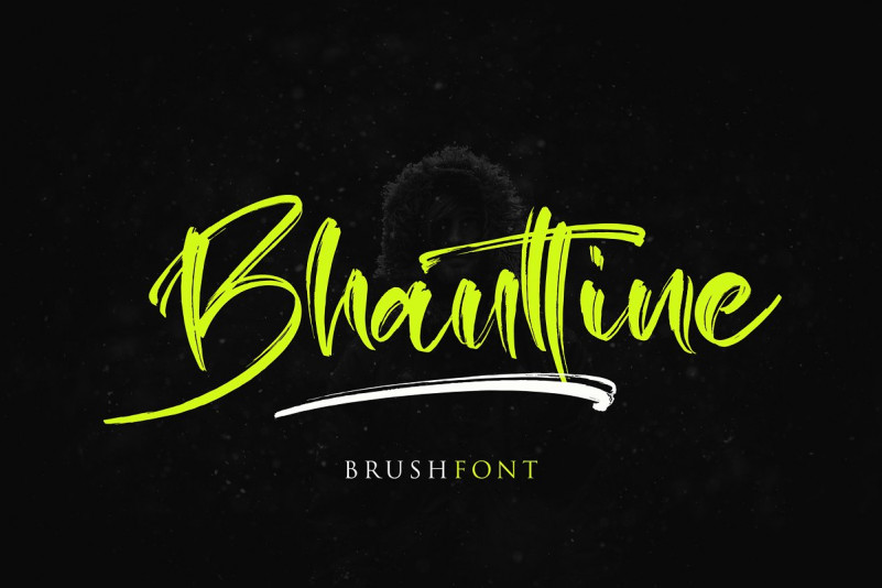 Bhauttine手写书法笔触大气英文字体下载