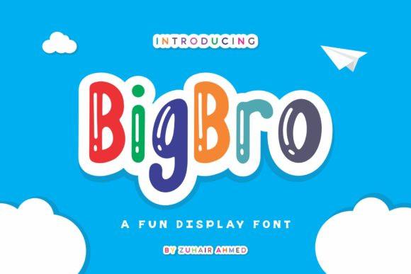 BigBro卡通可爱手写趣味英文字体下载