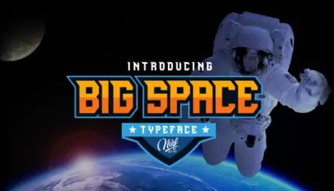 Big Space科技游戏logo英文字体下载