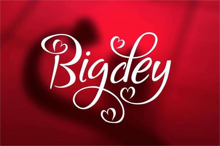 Bigdey婚纱摄影飘逸手写英文字体下载
