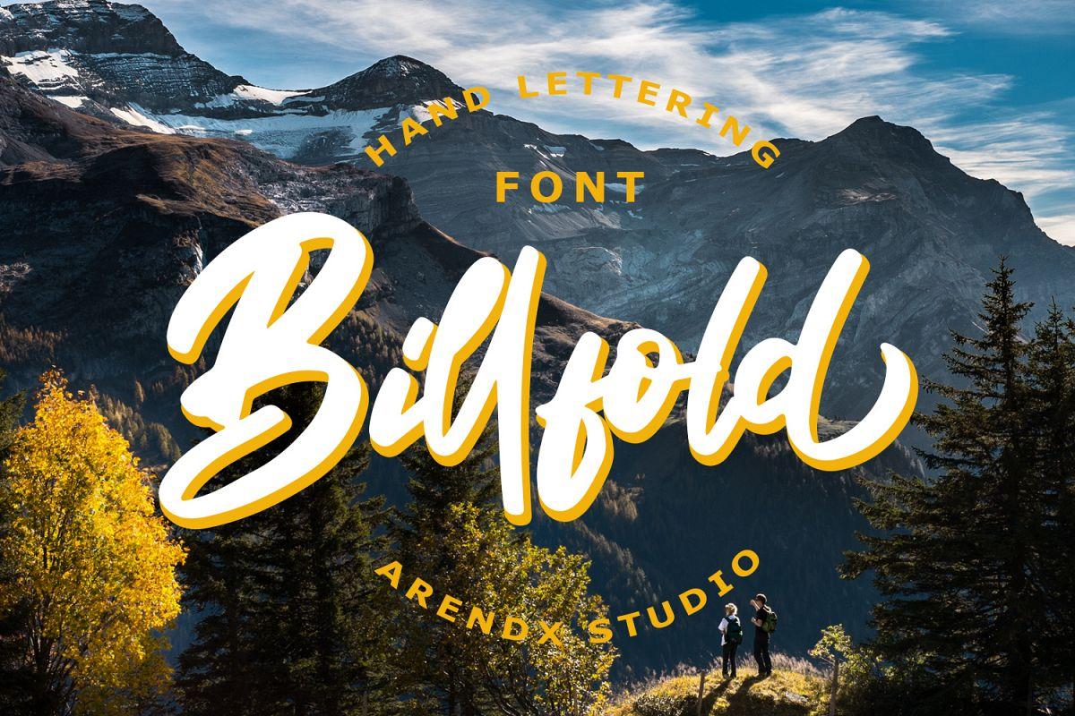 Billfold时尚手写涂鸦海报英文字体下载