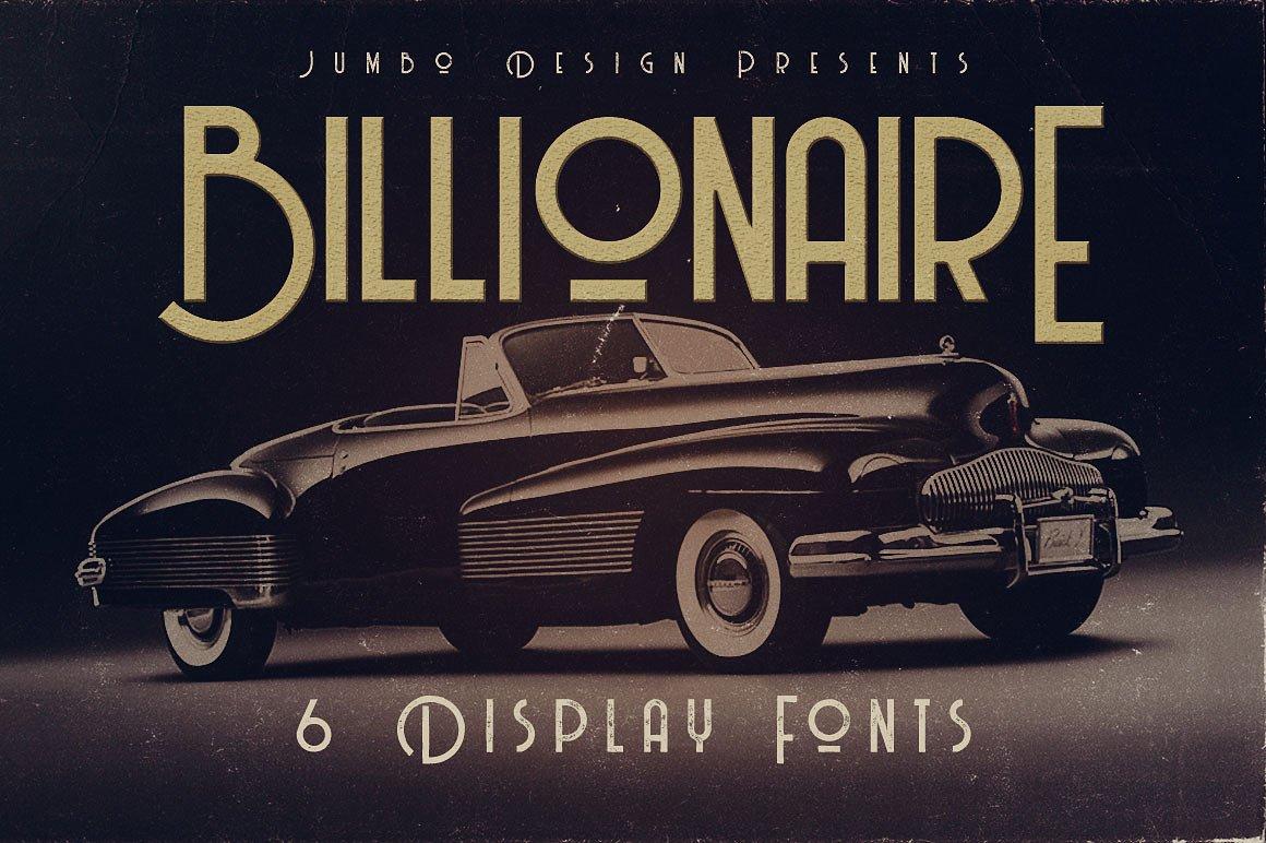 BillionaireMediumGrunge现代简约制造业海报logo英文字体下载