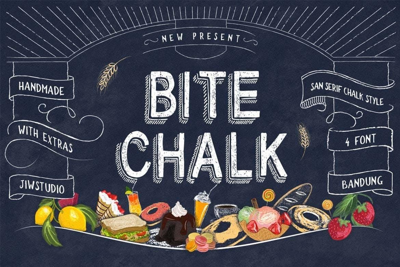BiteChalk复古传统粉笔字菜单西餐厅英文字体下载