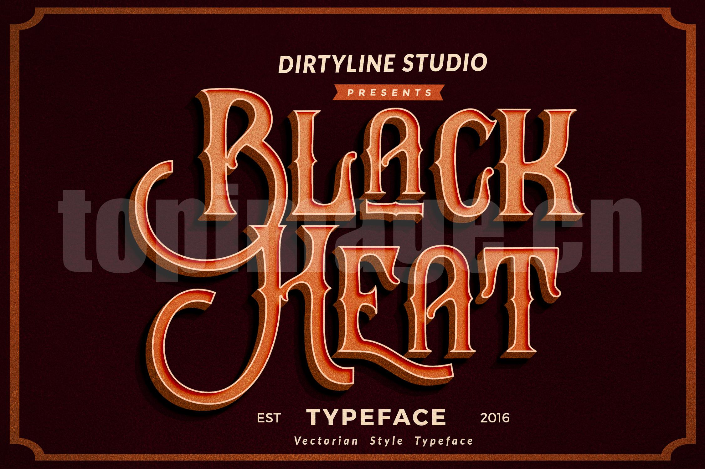 Black-Heat复古个性化飘逸立体感哥特式艺术英文字体下载