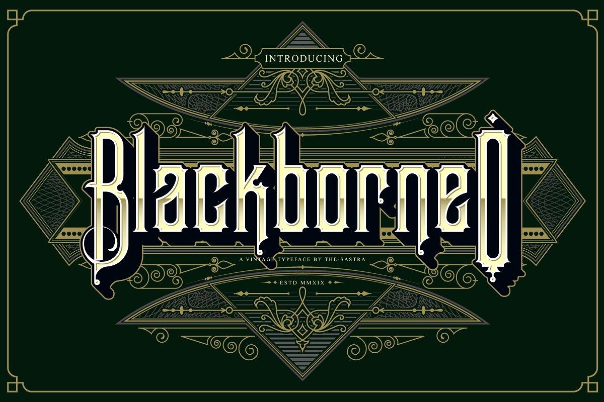 BlackBorneo哥特英文纹身个性英文字体下载