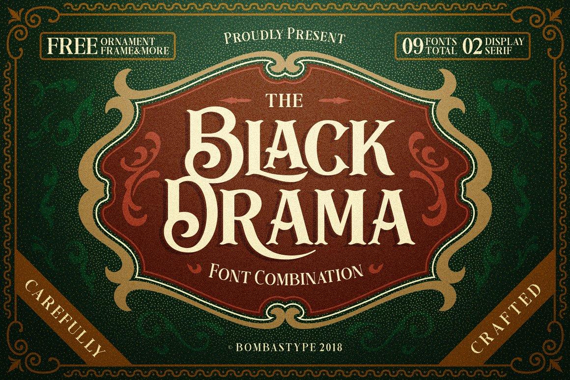 BlackDrama欧式复古徽章衬线英文字体下载