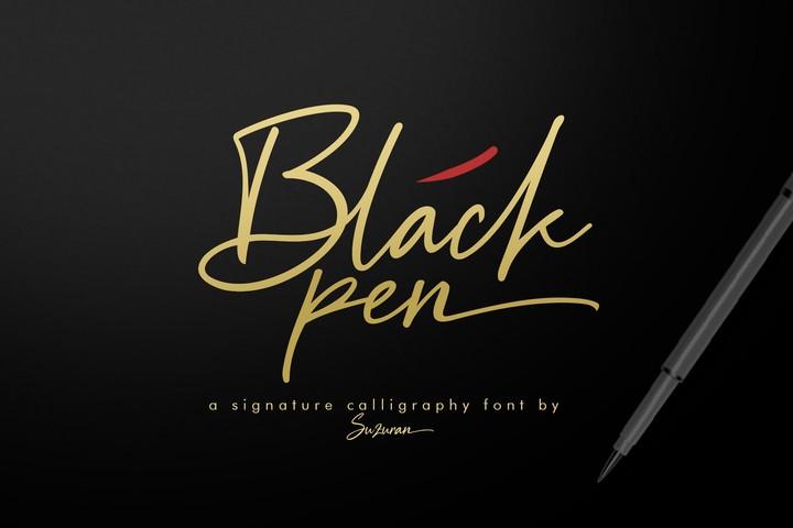 BlackPen手写连笔时尚英文字体下载