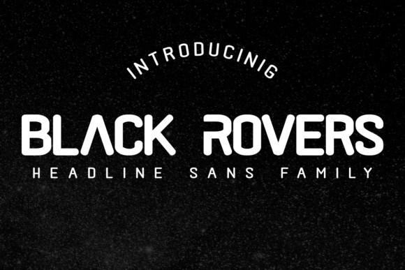 Black Rovers现代圆润英文字体下载