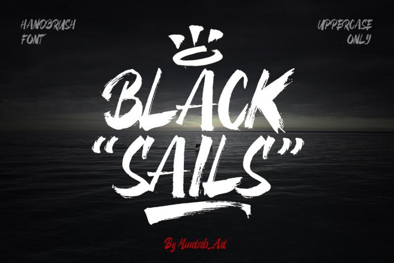 Black Sails个性书法笔触英文字体下载