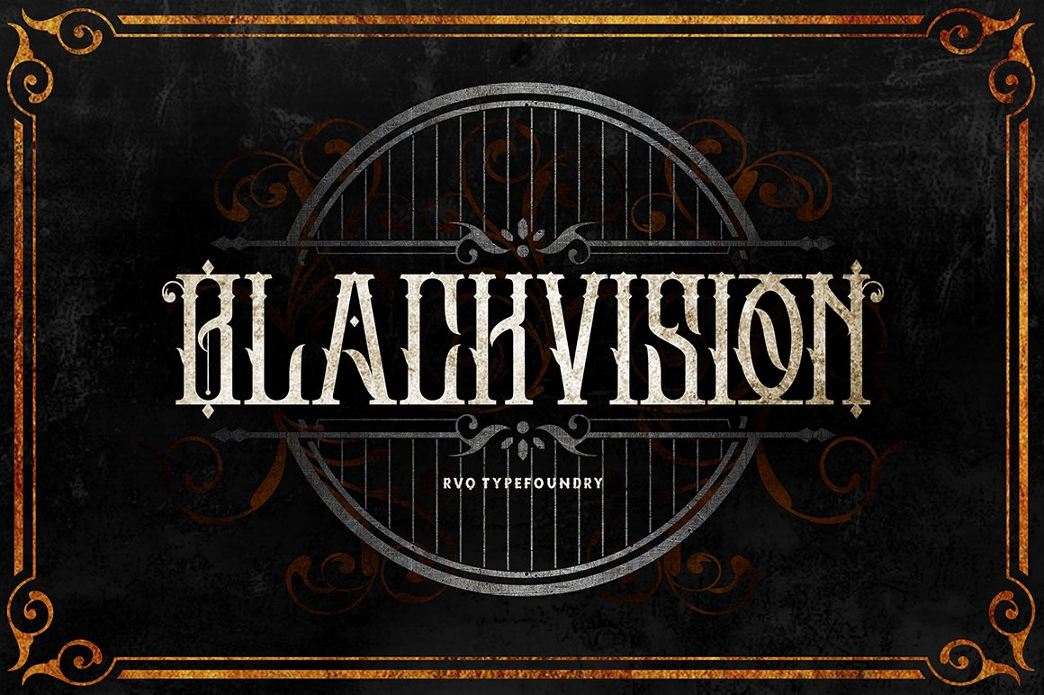 Black Vision 哥特个性纹身英文字体下载