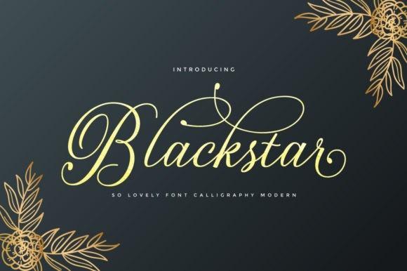 Blackstar花体婚礼英文字体下载