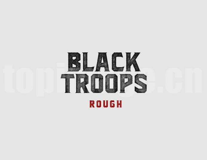 blacktroops个性化简约质感艺术英文字体下载