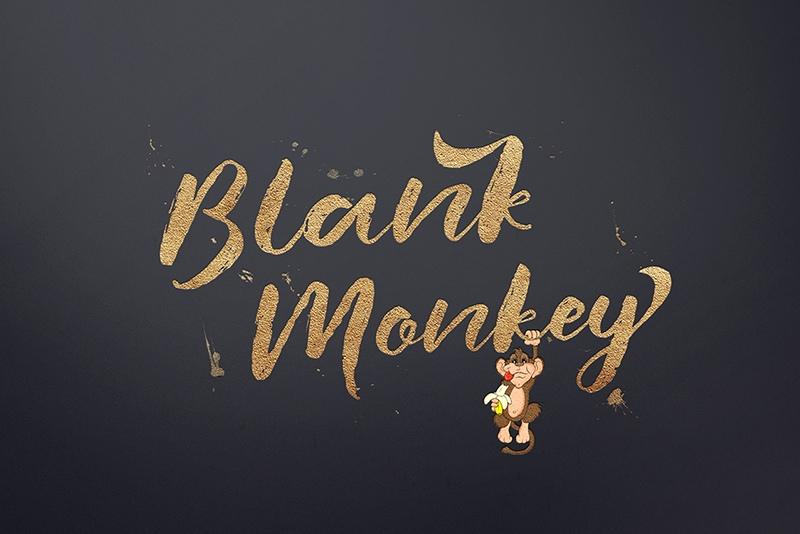BlankMonkey个性海报手写连笔肌理底纹英文字体下载