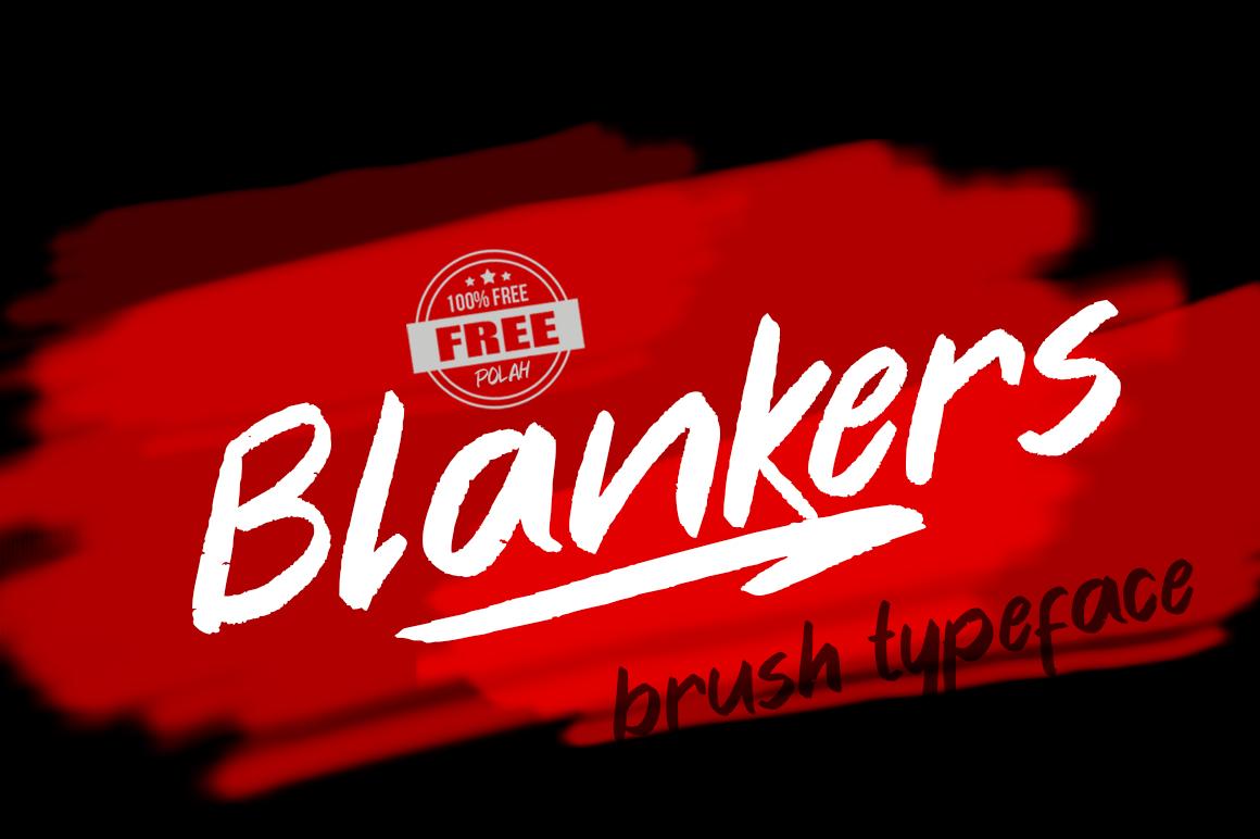 Blankers笔刷书法手写连笔艺术毛笔英文字体下载