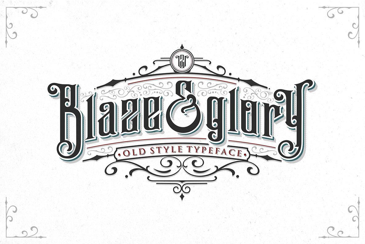 Blaze&Glory哥特个性英文字体下载