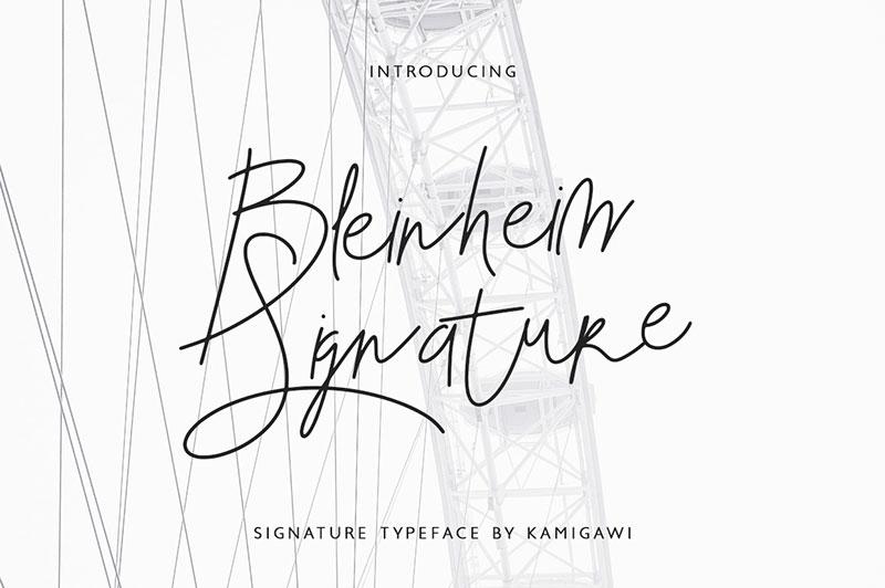 BlenheimSignature帅气个性手写英文字体下载