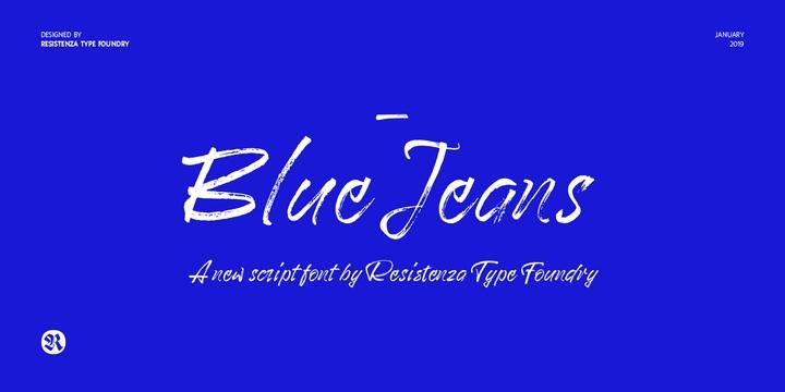 Blue_Jeans 手写笔触签名英文字体下载