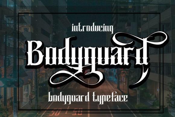 Bodyguard个性纹身哥特英文字体下载