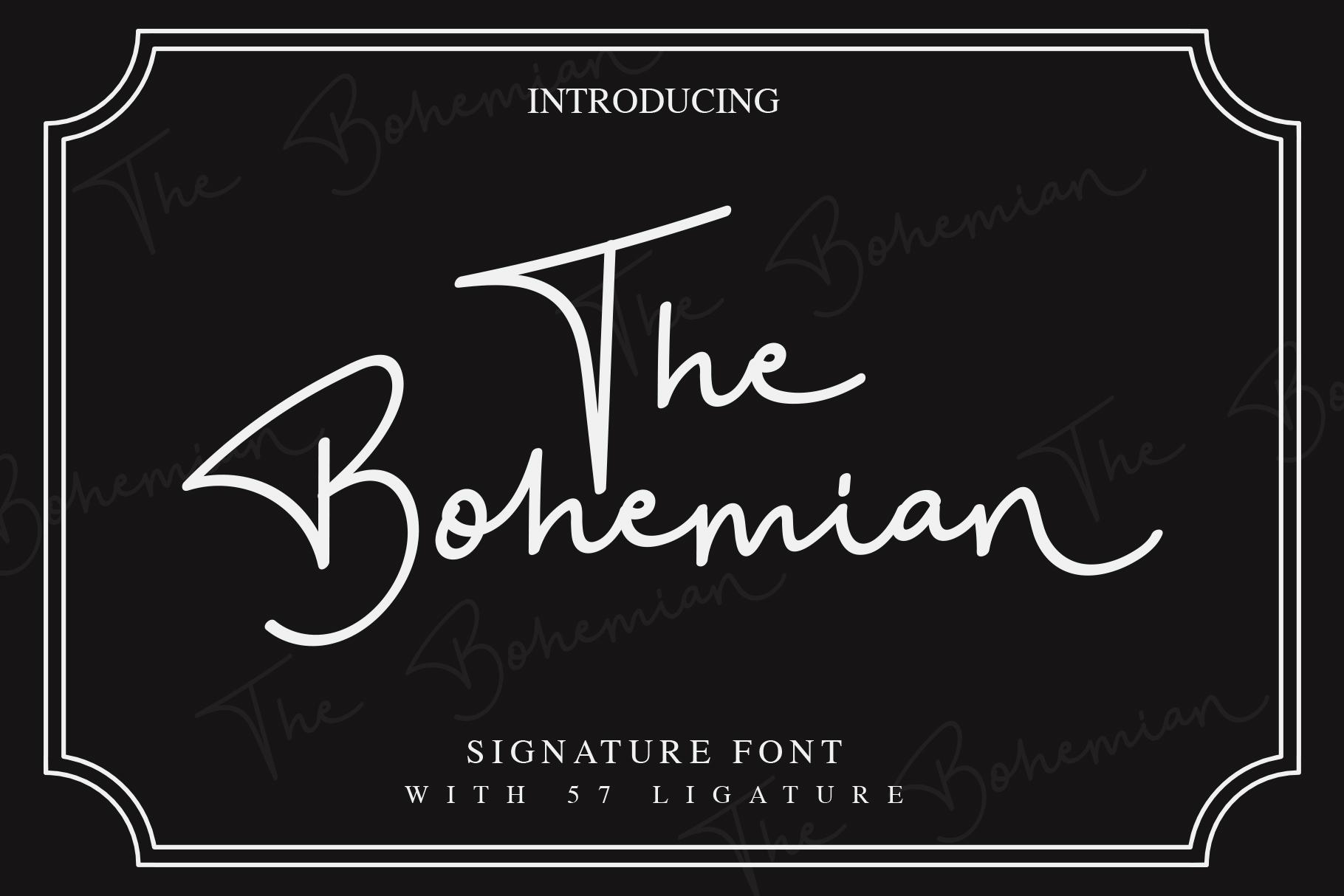 Bohemian手写连笔签名艺术字体下载