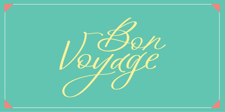 BonVoyage帅气手写摄影海报连笔英文字体下载