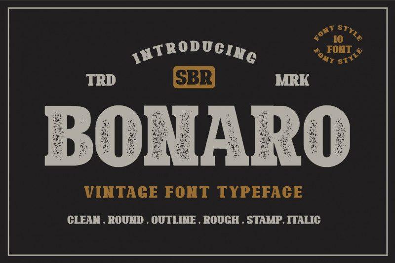 Bonaro现代衬线纹理英文字体下载