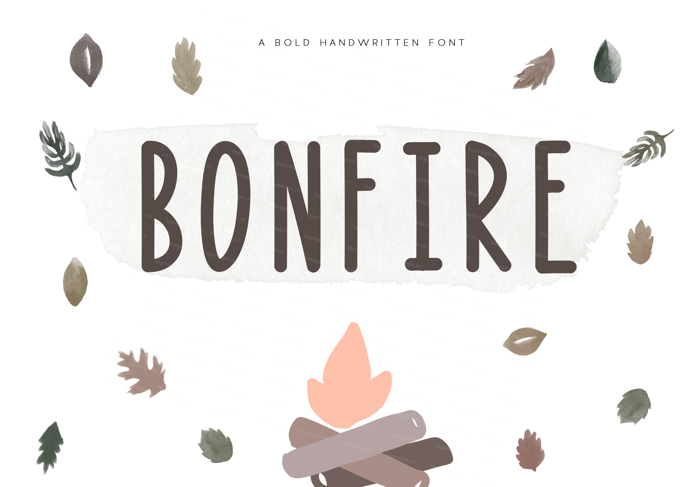 Bonfire时尚手写印刷排版书法英文字体下载