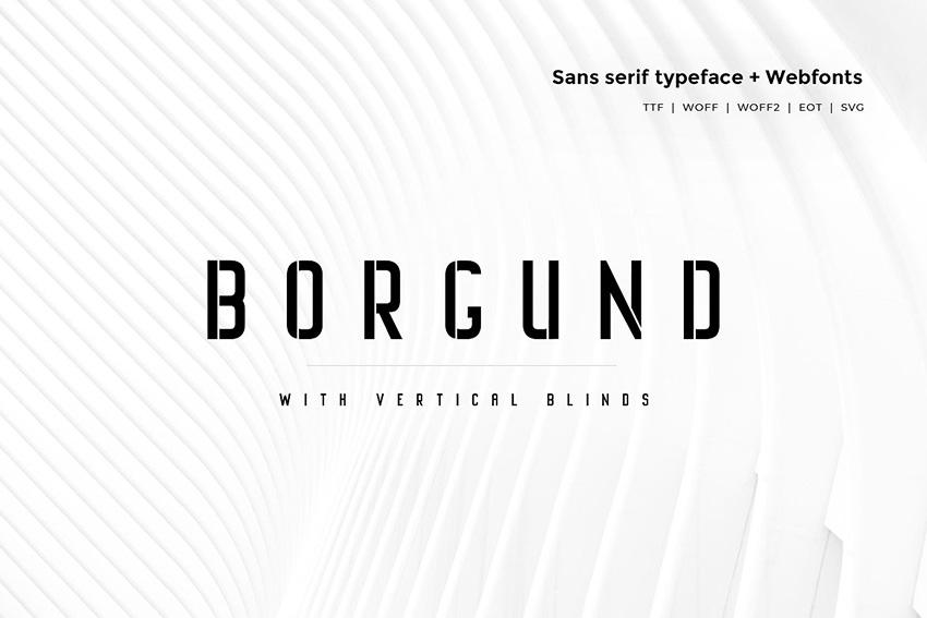Borgund Blinds 现代个性logo简洁英文字体下载