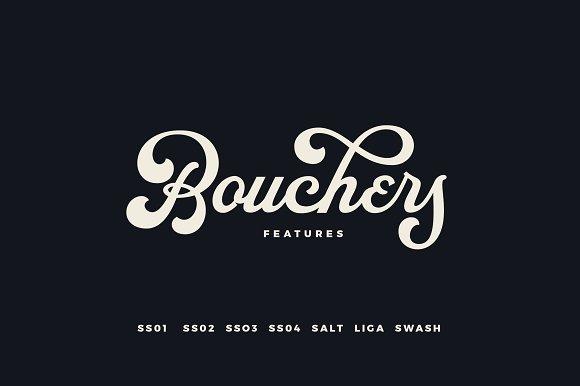BouchersX手写logo趣味花体英文字体下载