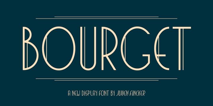 Bourget现代logo创意英文字体下载
