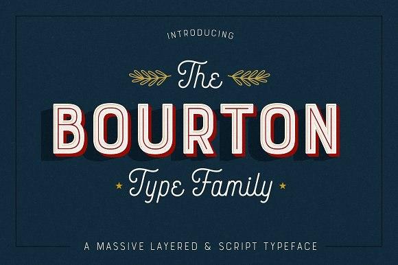 Bourton唯美艺术连笔现代字体下载