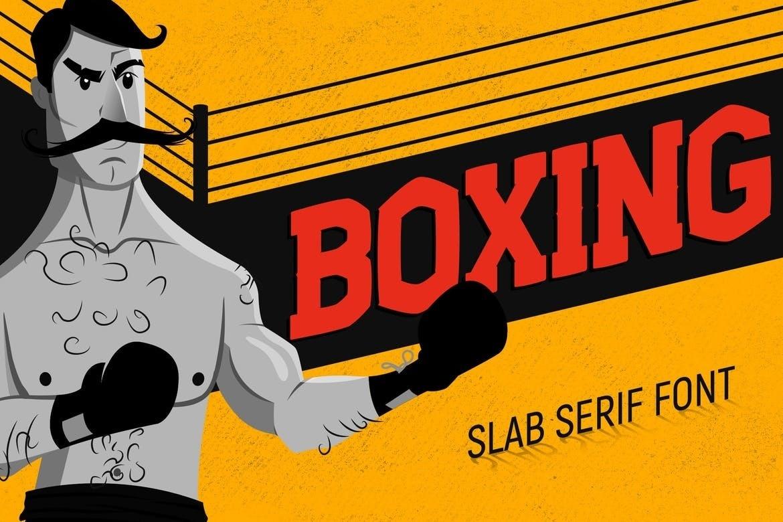 Boxing现代无衬线个性游戏英文字体下载