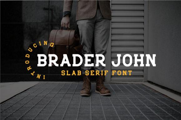 Braderjohn衬线等宽时尚英文字体下载