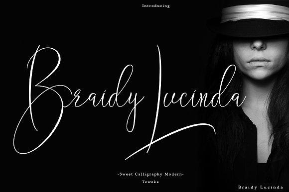 BraidyLucinda个性签名手写连笔英文字体下载
