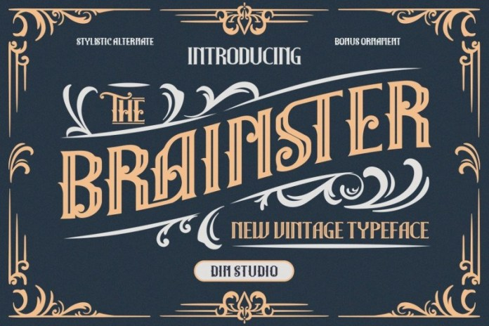 Brainster哥特式花体奇卡诺纹身花臂英文字体下载