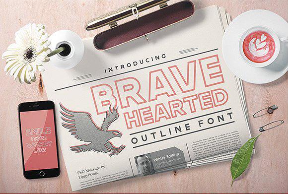 Brave Hearted现代无衬线简洁logo排版英文字体下载