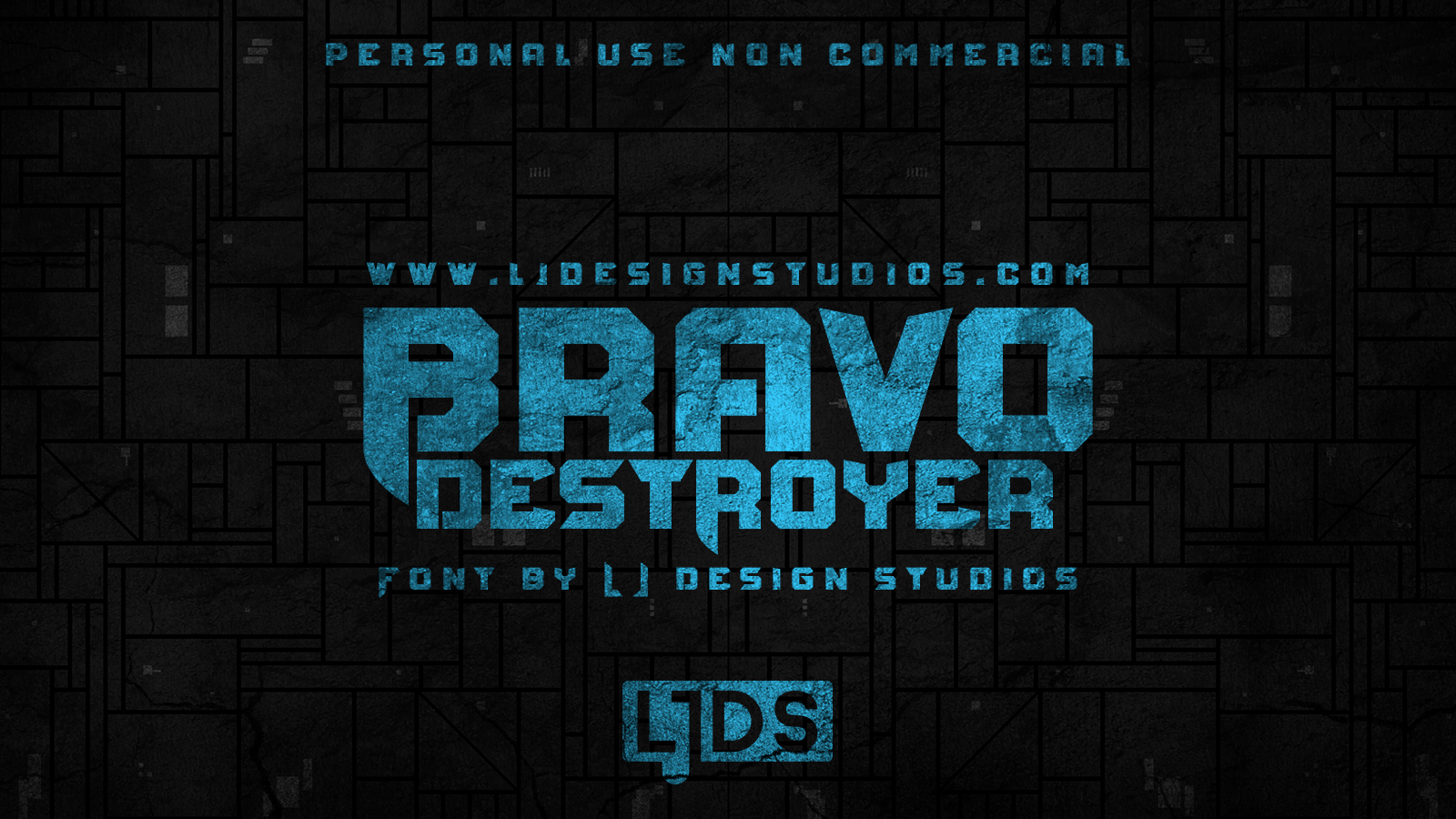BravoDestroyer科幻影视海报logo英文字体下载