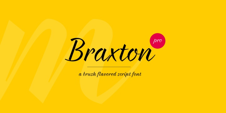 Braxton手写签名英文字体下载