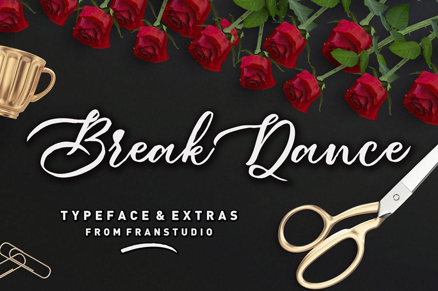 Break Dance手写连笔英文字体下载