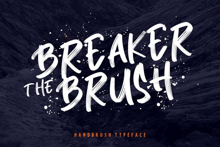Breaker The Brush 笔触书法手写连笔大气英文字体下载