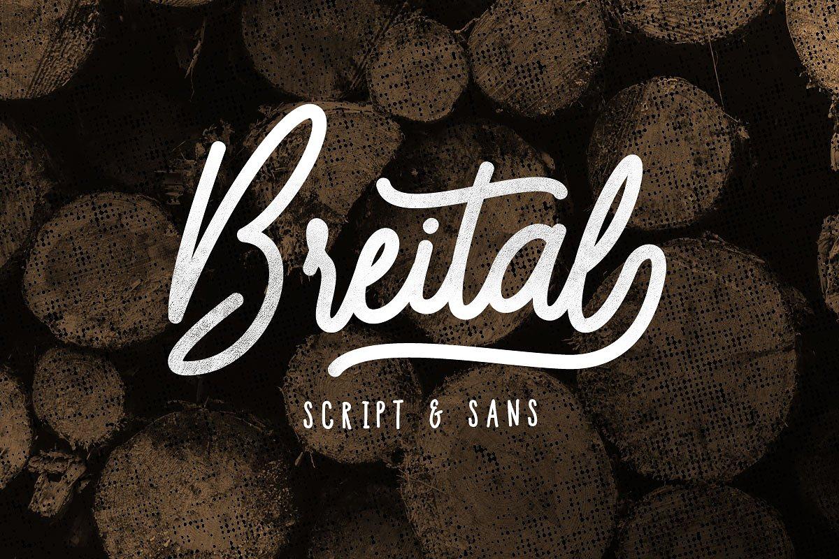 Breital手写现代连笔英文字体下载