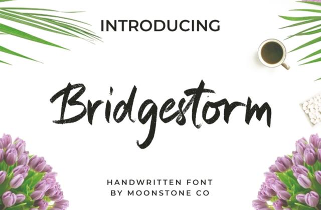 Bridgestorm笔触毛笔书法英文字体下载