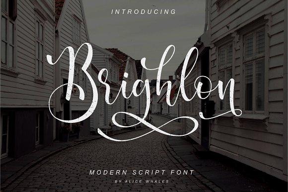 Brighlon北欧风格摄影海报英文字体下载
