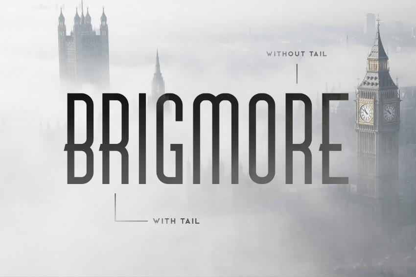 Brigmore现代无衬线细长logo英文字体下载