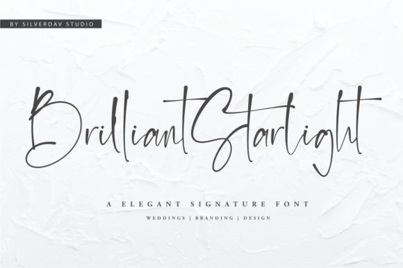 Brilliant Starlight纤细网红手写连笔英文字体下载