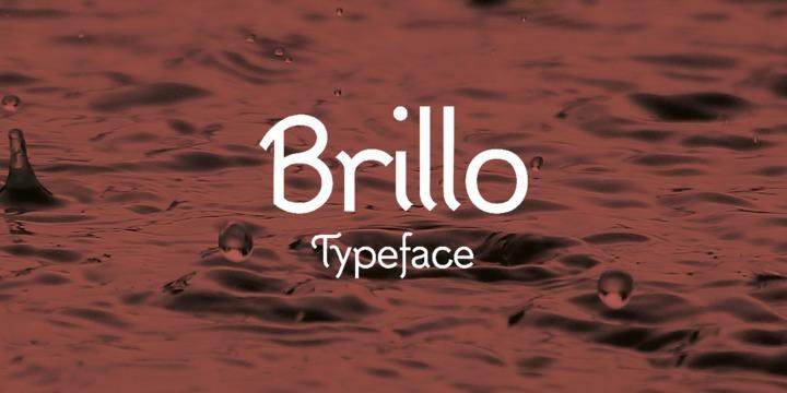 Brillo现代创意logo英文字体下载