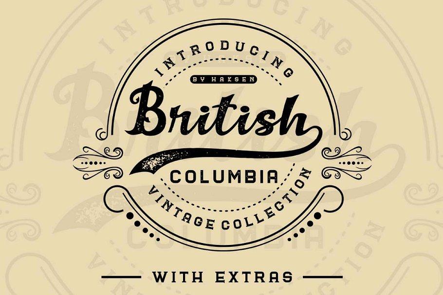 British Columbia 手写花体时尚英文字体下载
